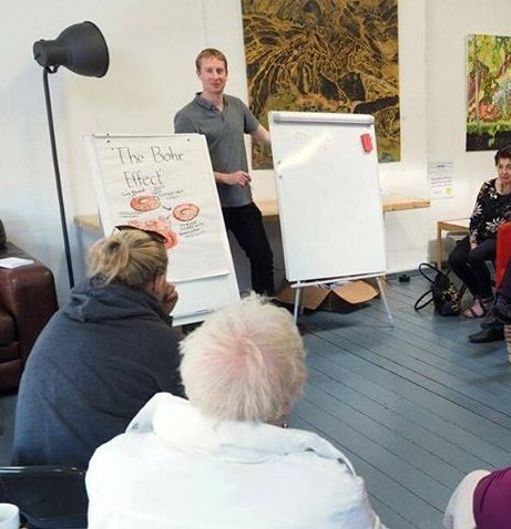 Brian Murphy, the owner of YourBreath, giving a breathing workshop