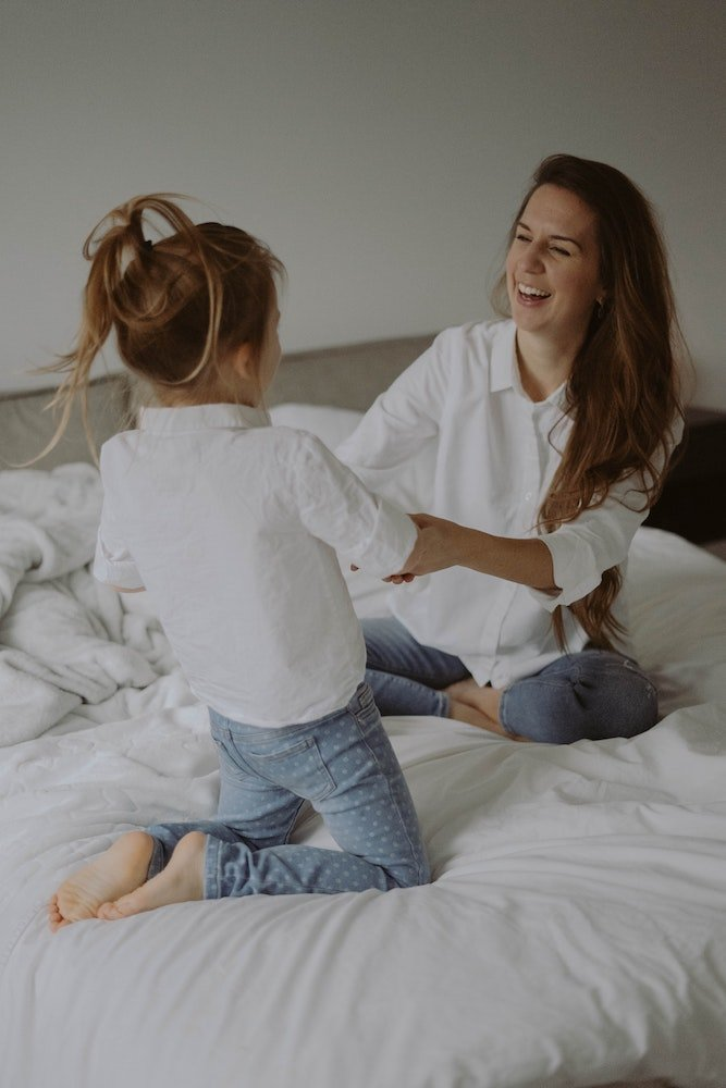 Mom and a daughter after a breathing programme at YourBreath